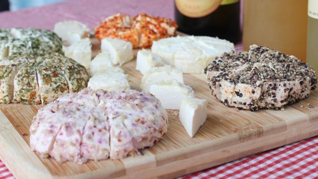 Dégustation des fromages de Fabienne Lory