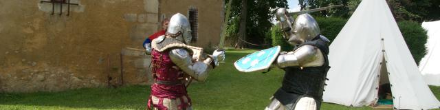 Combat de chevaliers au Logis de Moullins