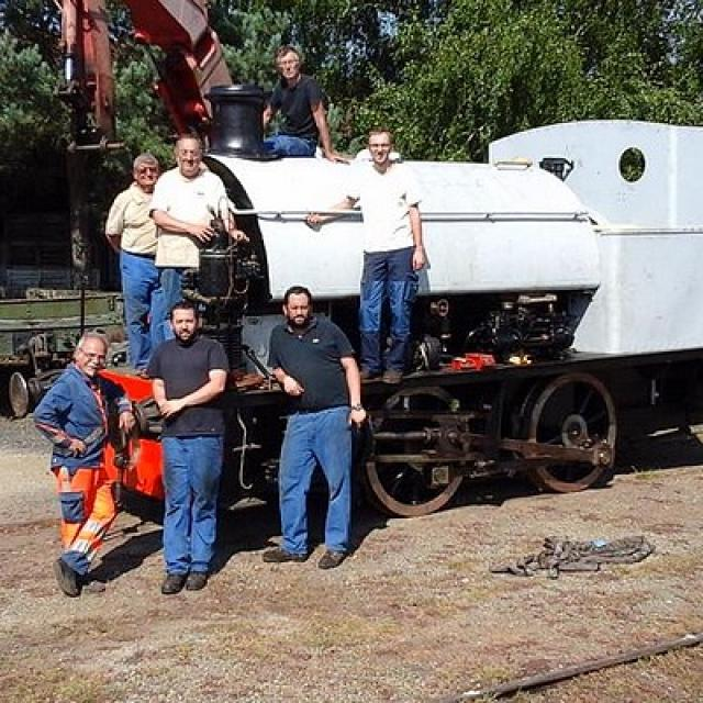 La locomotive Alice en cours de restauration