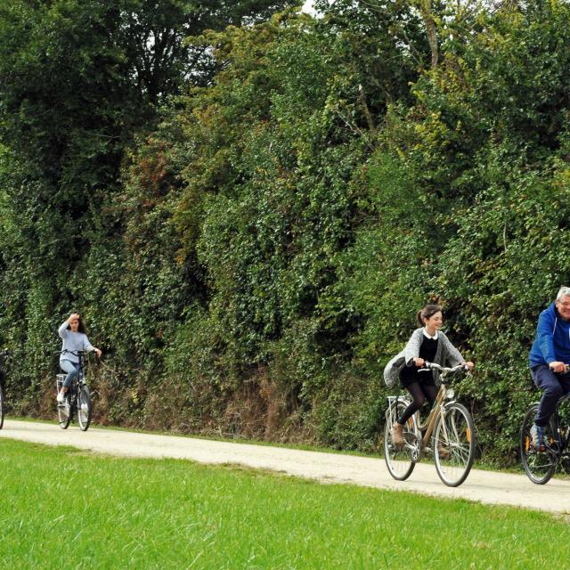 A vélo sur la Voie Verte